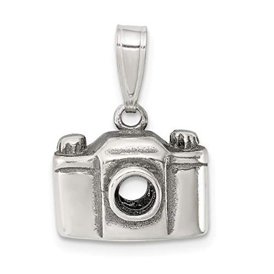 Beautiful Sterling silver 925 sterling Sterling Silver Antiqued Camera Charm comes with a Free...