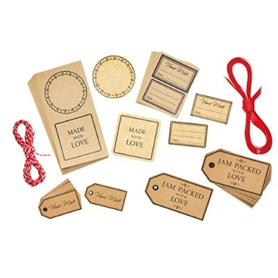 Kitchen Craft Home Made Gift Tags and Labels Set (122 Pieces) by KitchenCraft