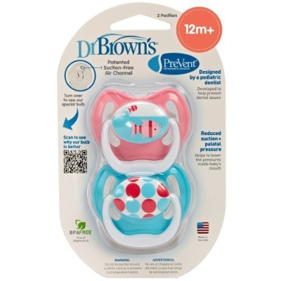 Dr. Brown's 2 Pack Prevent Pacifier 12+ Months by Dr. Brown's [並行輸入品]