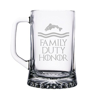Family Duty Honor Tully 15オンスBeer Mugガラス