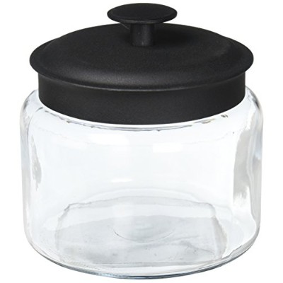 Anchor Hocking 96710 Mini Montana Jars With Black Metal Covers, 48 Ounce by Anchor Hocking