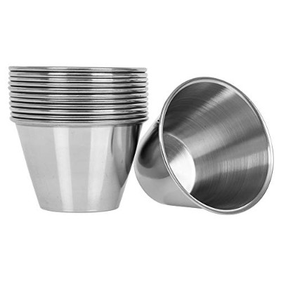 (24, 120ml) - (24 pack) Stainless Steel 120ml Portion Cups, Individual Condiment Sauce Cups - 120mls