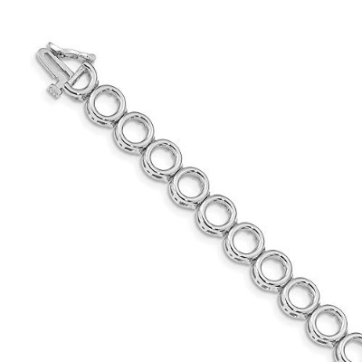 Beautiful White gold 14K 14k White Gold Holds up to 21 3.25mm Stones Add-A-Diamond Tennis Bracelet...