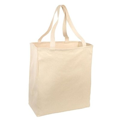 Large Cotton Twill Grocery Toteバッグ L