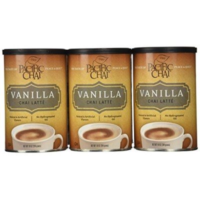 Pacific Chai Vanilla Chai Latte Mix, 10-Ounce Canisters (Pack of 6) by Pacific Chai