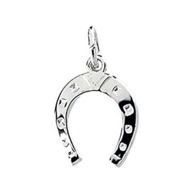 Horse Shoe Charm In Sterling Silver