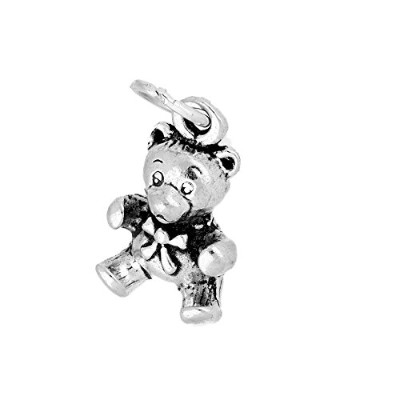 TheCharmWorks Sterling Silver Teddy Bear Charm