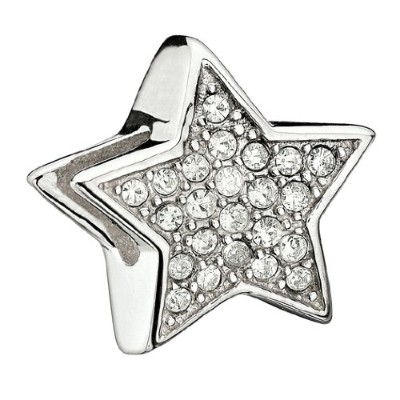 "Authentic Chamilia Charm "" Sparkling Stars ""クリスタル2083 – 0056 ( Retired )"