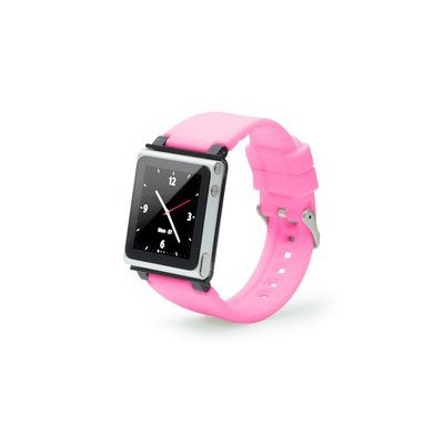 iWatchz iPod nanoを腕時計として楽しめるリストバンド Q Collection - Pink Band ピンク QCPKB