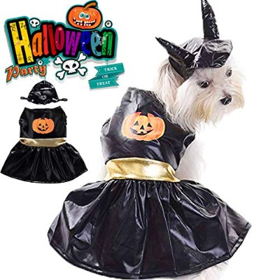 Halloween Costumes Pets Dogs Cats Halloween Party Skeleton Dog Costume Pumpkin Wizard Witch Cloak...