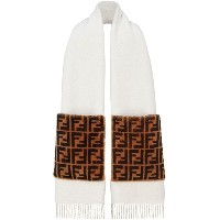 Fendi Touch Of Fur scarf - ホワイト