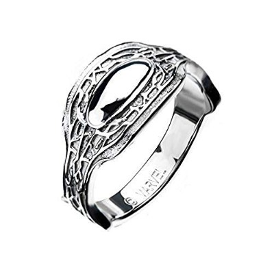 Black Panther King T'Challa Ring - Marvel Comics Silver Jewelry Artwork, Size 9