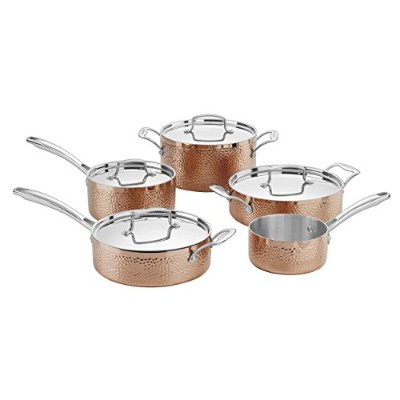 Cuisinart hctp-9 HammeredコレクションCookware Set、M、銅