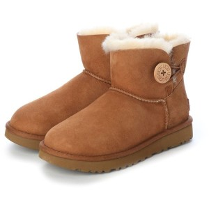 【SALE 21%OFF】アグ UGG UGG 1016422 W MINI BAILEY BUTTON 2 チェスナッ (チェスナット) レディース
