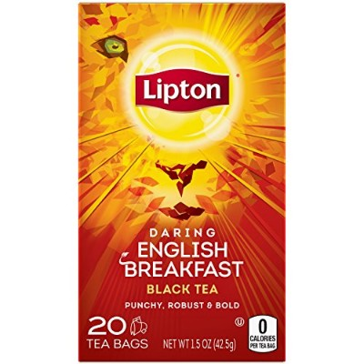Lipton Black Tea, Daring English Breakfast, 20 Count (Pack of 6) by Lipton