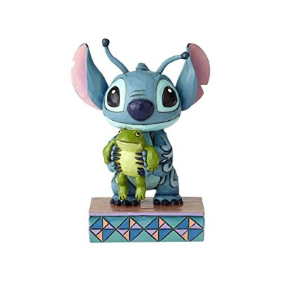 enesco 置物 スティッチ Stitch Personality Pose W7.3×H9.8×D5.4cm Disney Traditions 4059741