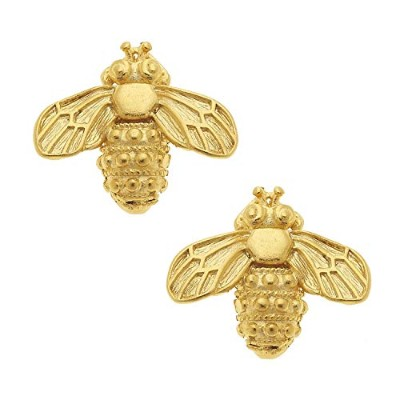 Susan Shaw Gold Bee Studs