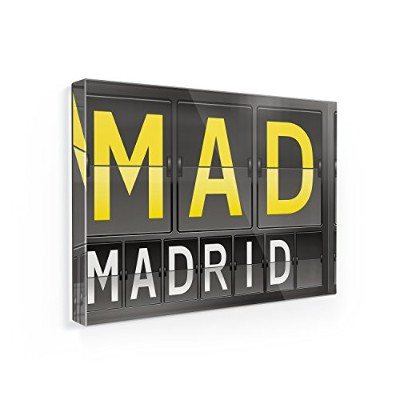冷蔵庫マグネットMad Airportコードfor Madrid – Neonblond