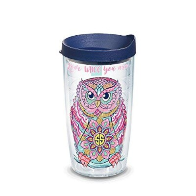 Tervis タンブラーラップ 蓋付き 16オンス Simply Southern Love Who you are Owl