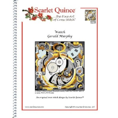Scarlet Quince MUR002lg Watch by Gerald Murphy Counted Cross Stitch Chart, Large Size Symbols by...