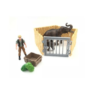 Schleich ゾウの親子 お世話セット○72111 おもちゃ