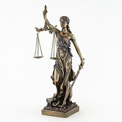 Bronze Finish Lady Justice 12.5 Inch Statue Sculpture by Top Collection