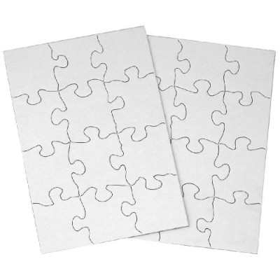 Inovart Puzzle-It Blank Puzzles 12 Piece 5-1/2 x 8 - 24 Pieces Per Package Color: #1, Model: 2702,...