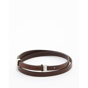 REPLAY レザー細Belt○AW2435000A3007 Faded black brown ファッション雑貨