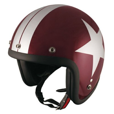 【TNK工業】【SPEED PIT】【バイク用】【ヘルメット】ジェットヘルメット レディースサイズ 57-58cm RED.BEEN/SI/STAR【JL-65L】