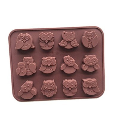 (xj567) - Longzang Owl Silicone mould for Candy Chocolate Cake Jelly (xj567)
