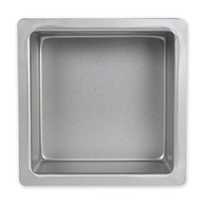 PME Seamless Professional Square Cake Tin Pan 3 Inch Deep - 7 x 7 Inch by PME