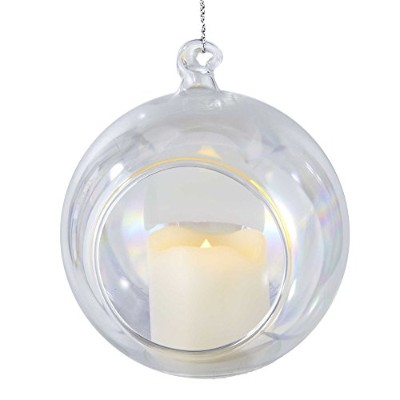 Kurt Adler乾電池式虹色Lighted Ornament with Votive Candle、90 mm