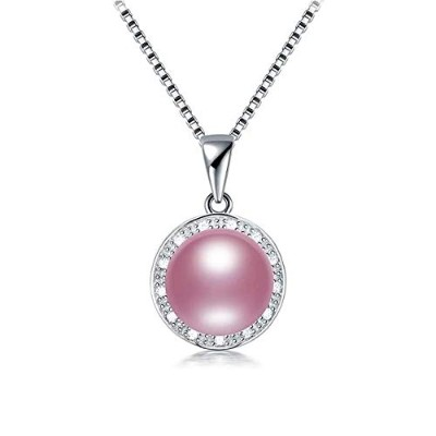 Freshwater Natural Purple Pearl Pendant Necklace