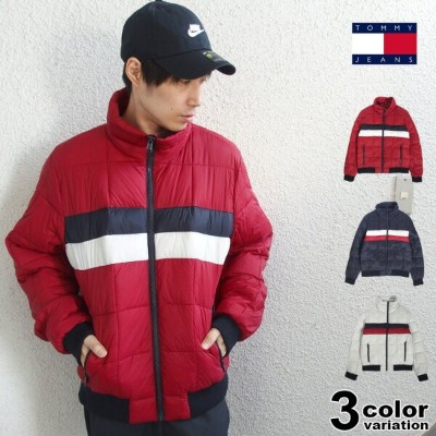 TOMMY HILFIGER トミー ヒルフィガー ナイロン 中綿 ジャケット Quilted Bomber Jacket (tommy ジャケット メンズ 158AN580 USAモデル) ...