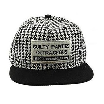 ri001ブラックandホワイトHounds Tooth Cap with Guilty Parties Outrageousパッチ