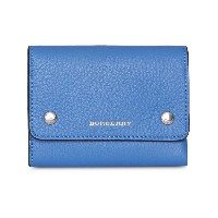 Burberry Small Leather Folding Wallet - ブルー