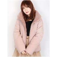 【SALE 50%OFF】dazzlin 【sw】襟ボア中綿ブルゾン(ピンク)