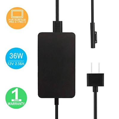Surface Pro 3 / Pro 4 充電器, BOLWEO 12V/2.58A 36W 電源ACアダプター For マイクロソフト Microsoft Surface Pro 3 and...