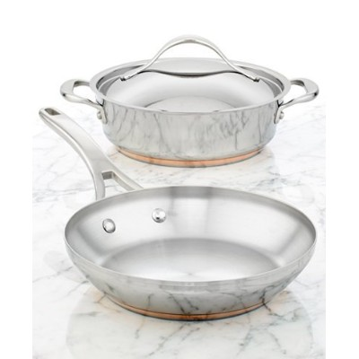 """Anolon 3ピースセット: 9.5"""" Openスキレット& 3Qt。Covered Sauteuse W /スイング蓋"""