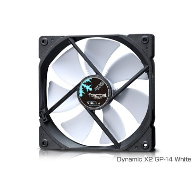 FractalDesign FD-FAN-DYN-X2-GP14-WT FractalDesign Dynamic X2 GP-14 White 高い耐久性を誇るLLSベアリングを採用...