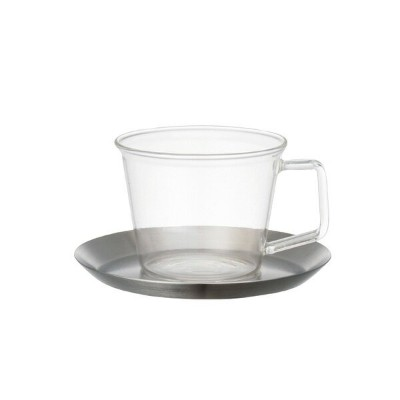 KINTO CAST COFFEE CUP & SAUCER STAINLESSKINTO CAST ステンレス コーヒーカップ&ソーサー [23085]
