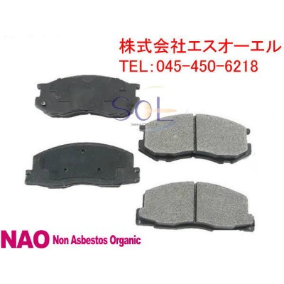 TOYOTA トヨタ bB(NCP30 NCP34 NCP35 NCP31) ist(NCP60 NCP61 NCP65) MR-S(ZZW30) Opa(ACT10 ZCT10)フロントブレーキパッ...