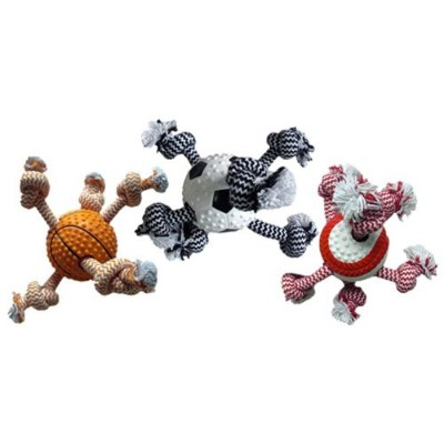 Sport Ball/Rope Dog Toy