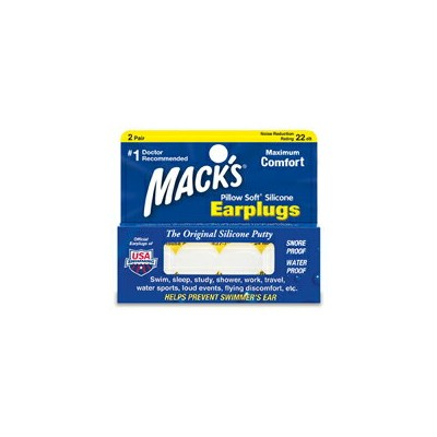 Mack's Ear Plugs 5EP Pillow Soft Silicone Earplugs 耳栓