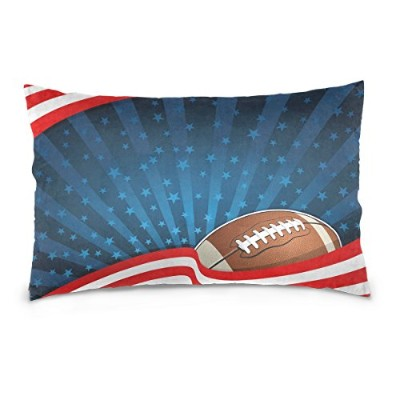 Alaza American Football背景Independence Day of National Celebration枕ケース 16x24 g3336373p33c20s23