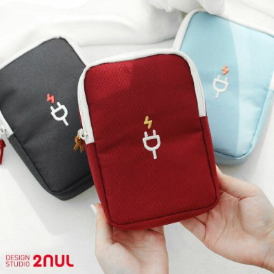 2nul Charger Pouch Large 充電ポーチ ケーブルポーチ マウスポーチ 収納ポーチ かわいい シンプル 面白い 大学生 ビジネス 軽い モバイルバッテリー収納ポーチ 旅行 出張...