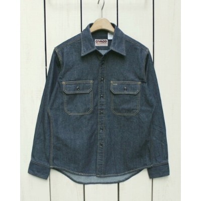 b0f77fbd4c09 CAMCO Long Sleeve Denim Work Shirts 6.5oz Denim / Made in Japan カムコ デニム ワーク