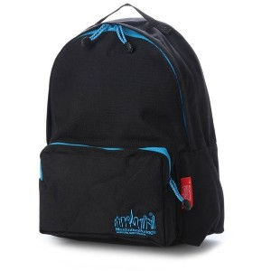 マンハッタンポーテージ Manhattan Portage Reflective Cord Big Apple Backpack JR (Black/Blue) レディース メンズ
