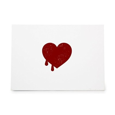 Heart Bleeding Love Woman Valentines Style 7675, Rubber Stamp Shape great for Scrapbooking, Crafts,...