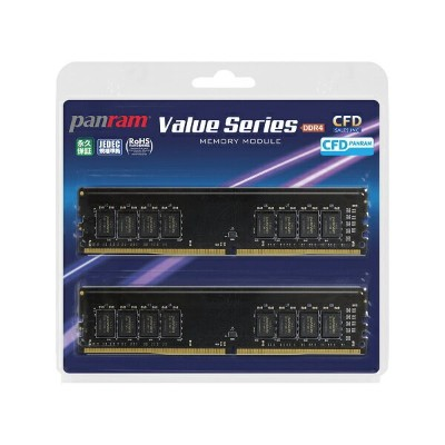 CFD W4U2666PS-16GC19 CFD Panram DDR4-2666 デスクトップ用メモリ 288pin DIMM 16GB 2枚組